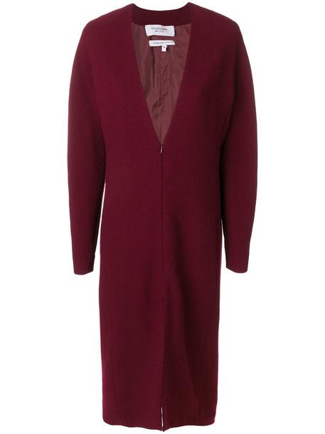 dress zip women wool red