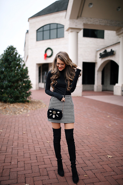 southern curls and pearls blogger skirt shoes bag make-up