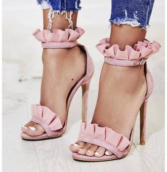 shoes pink summer sandals high heel sandals