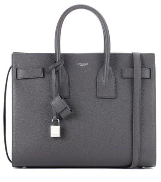 Saint Laurent leather grey bag