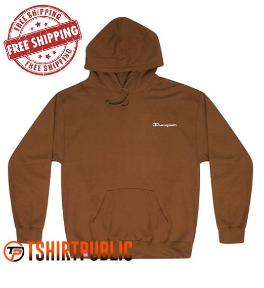 Champion Logo Hoodie Free Shipping - Cheap Graphic Tees