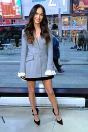 jacket,blazer,megan fox,celebrity,mini skirt