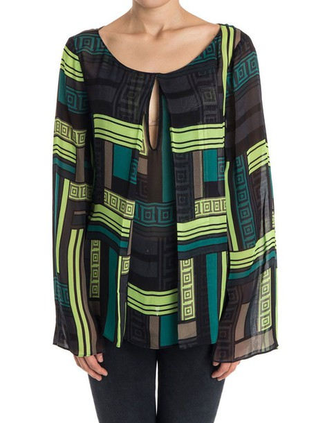 Versace Collection blouse black green top
