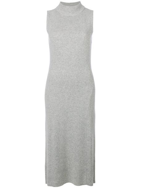 dress sleeveless women grey