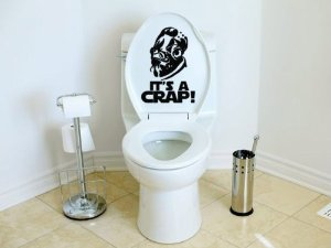 Amazon.com   Star Wars Inspired Itu0027s A Crap Toilet Decal Admiral Ackbar  Itu0027s A Trap   Wall Decor Stickers