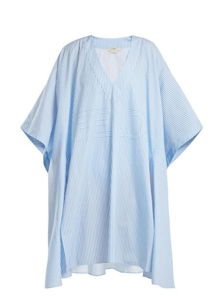 Fendi cotton light blue light blue top