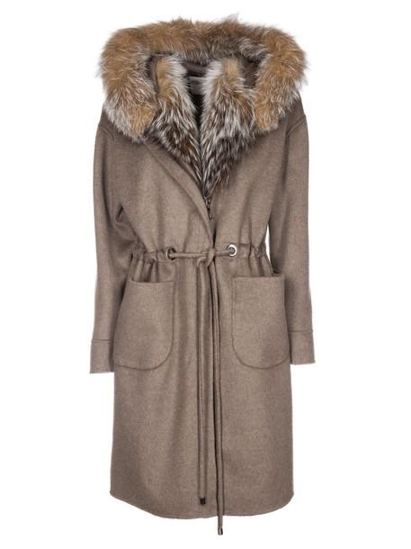 coat fur coat fur brown