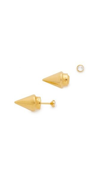 mini clear earrings gold jewels