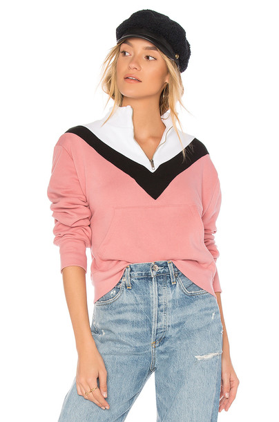 Wildfox Couture sweatshirt colorblock pink sweater