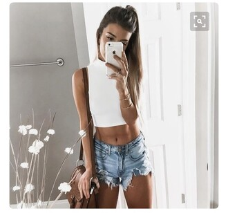 top white crop tops crop tops high neck sleeveless