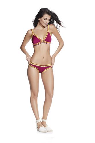 swimwear bikini cheeky pink triangle bikiniluxe