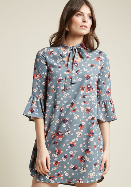 D974 dress mini dress shift dress mini style floral blue