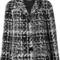 Dolce & gabbana tweed jacket, women's, size: 38, black, silk/cotton/acrylic/wool