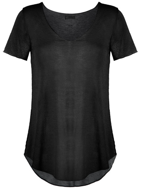 OSKLEN top sheer top sheer women black