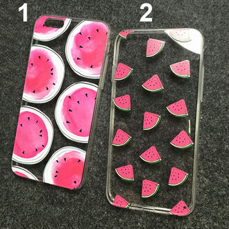 phone cover iphone case watermelon print transparent watermelon transparent iphone 6 case cute teenagers trendy cool it girl shop