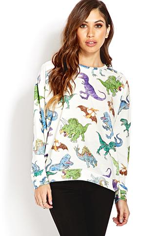 Dino Parade Sweatshirt | FOREVER21 - 2000090701