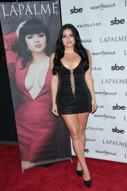 dress mini dress black dress bodycon dress ariel winter sexy dress