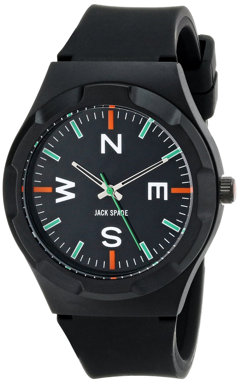 Amazon.com: jack spade men's wuru0125 graphic analog display japanese quartz black watch: watches