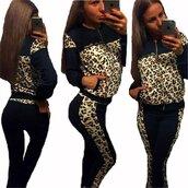 sweater,leopard print,tracksuit,sport suit,casual suit,sweatshirt,zipper hoodie,leopard zipper hoodie,zipper jacket,sports jacket,leopard sweats,sweatpants,black sweatpants,black leopard,sport pants,leopard sweatshirt,sexy,sexy fitness tights,sportswear,fashion toast,fashion vibe,fashionista,preppy tracksuit,moraki,jumpsuit,romper,leopard print tracksuit,sexy fitness,nike sportswear
