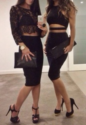 skirt,top,black lace,black,lace dress,lace top,lace crop top,crop tops,classy,style,black top,cut out top,dress,lace,sheer,see through,bra,bralette,cut-out,pencil skirt,clutch,heels,pumps,clubwear,2015,las vegas,vegas,lounge,hot,underwear,shoes,bodycon,cut out crop top,black crop top,bustier,crop,cut-out dress,mini black,black dress,sexy dress,short black,shirt,outfit