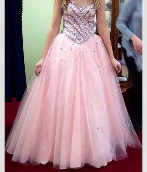 dress prom dress sparkle dress silver pink dress sparkles pink ballgown