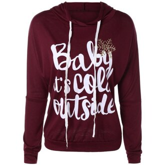 sweater burgundy long sleeves fashion quote on it casual cool trendy trendsgal.com