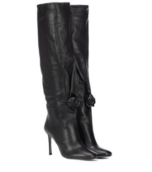 Samuele Failli Betsy 90 leather boots in black