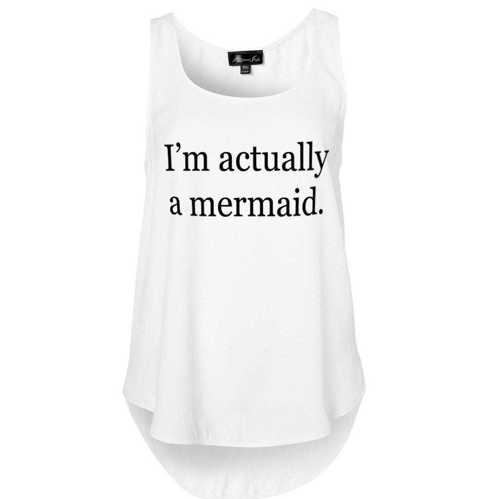 I'm actually a mermaid miami style tank top
