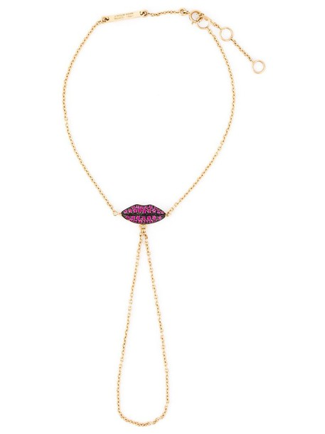 Delfina Delettrez women lips gold grey metallic jewels