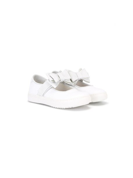 Montelpare Tradition bow leather white shoes