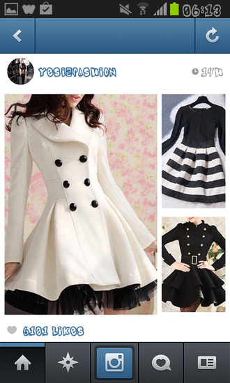 coat black and white felt buttoned formal long net brown classy silk shirt shoulder pads