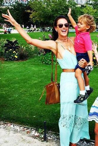 dress maxi dress summer dress summer outfits alessandra ambrosio belt