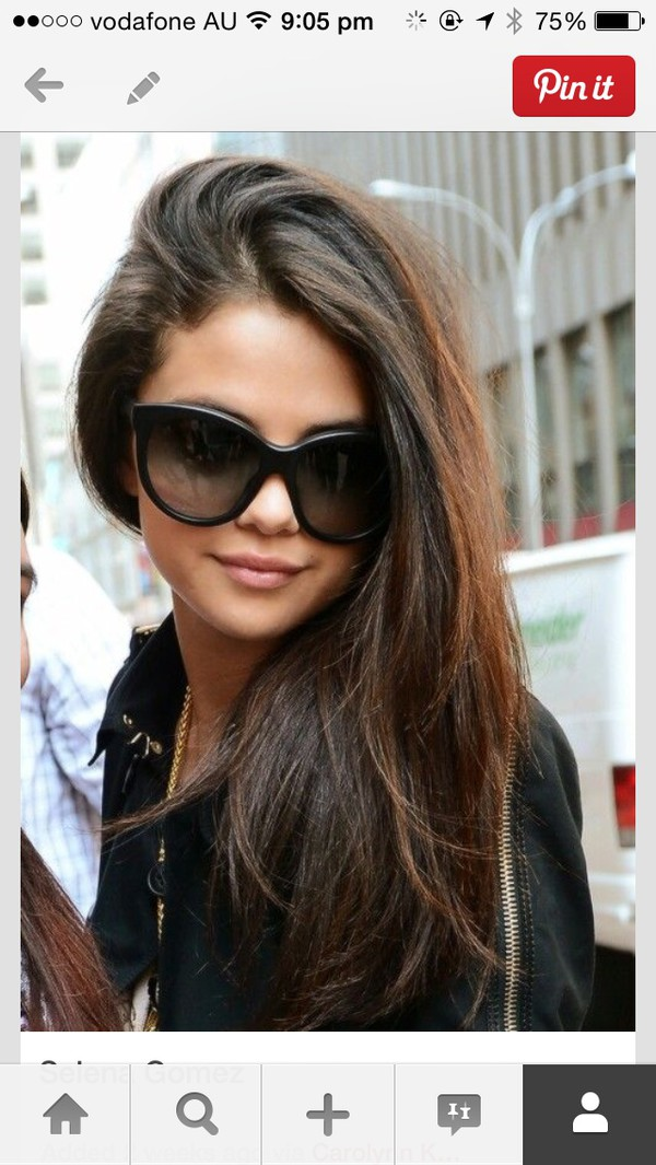 sunglasses selena gomez black
