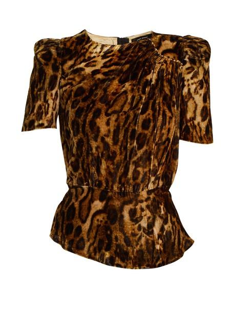 Isabel Marant top velvet top print velvet
