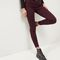 Burgundy ankle grazer skinny jeans