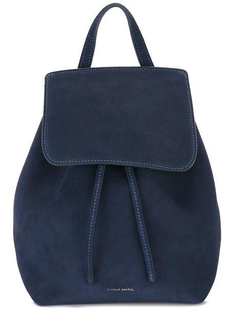Mansur Gavriel mini women backpack mini backpack blue suede bag