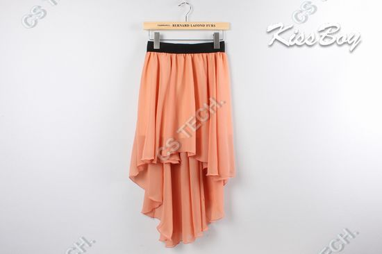 [C 358] Free Shipping New Sexy Hem Chiffon Skirt Ladies Long Maxi Skirt Elastic Waist-in Skirts from Apparel & Accessories on Aliexpress.com