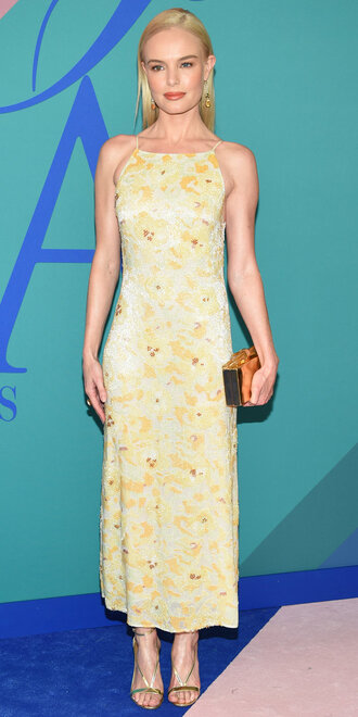 dress kate bosworth sandals maxi dress yellow dress yellow shoes cfda