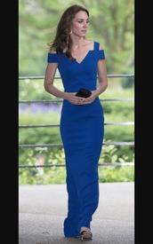 dress,robe,kate middleton,evening dress,blue dress