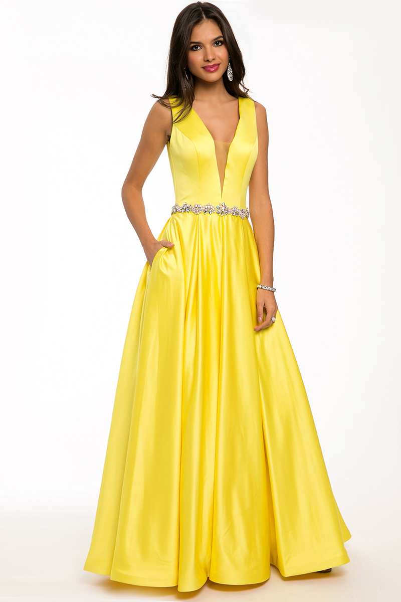 Open Back Long Dress 98259 - Prom Dresses