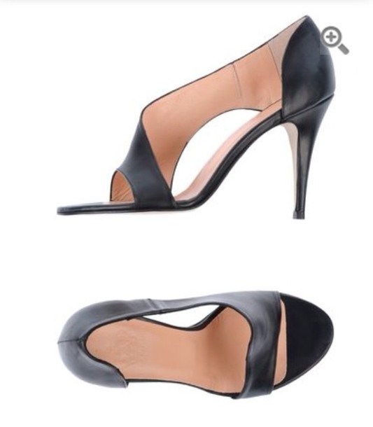 shoes black heels open toes sandals leather