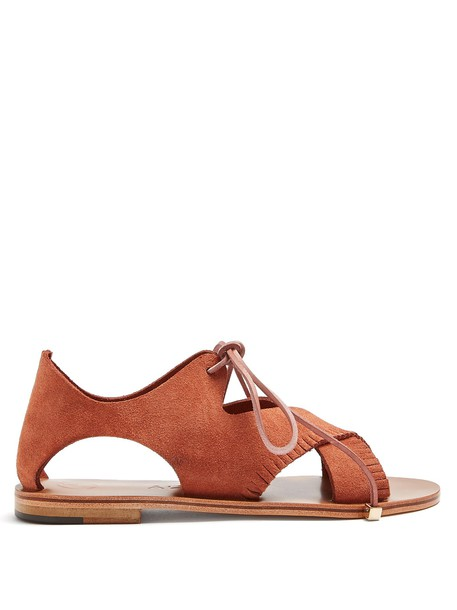 ÁLVARO sandals suede tan shoes