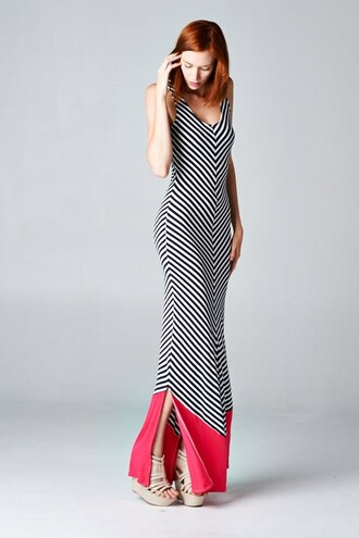 chevron dresses chevron stripes striped dress black and white black and white dress colorblock color block dress sleeveless sleeveless dress maxi dress summer dress summer outfits