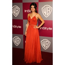 Selena gomez sexy formal dress at the 68th annual golden globe awards post
