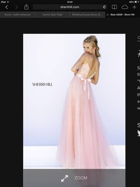 dress pink sherri hill