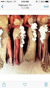 dress,gold sequins,sexy bridesmaid dresses,bridesmaid,gold dress,glitter dress,bridesmaidsdress,gold,sequins,gown,lace,prom,long bridesmaid dress,sequin bridesmaid dresses,mismatched bridesmaid dresses,gold bridesmaid dresses,the great gatsby,sequin dress