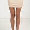 Solid bandage mini skirt - beige