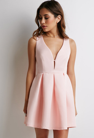dress prom dress prom peach dress peach skater dress party dress fit and flare dress flare dress pink dress pink v neck dress occasions dress special occasion dress