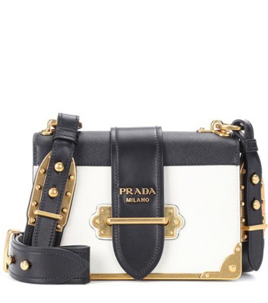 Prada bag shoulder bag leather white