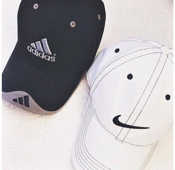 5da4c687842f6 hat, adidas, nike, black, white, cap - Wheretoget